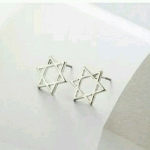 Sterling Silver Star of David Studs